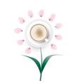 cappuccino coffee flower vector image vector image