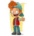 Cartoon little redhead boy vector image vector image