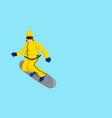 cartoon of a snow boarder vector image vector image