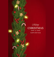 christmas on red background with wishes vector image vector image