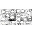 comic book black and white page template divided vector image vector image