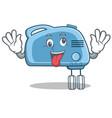 crazy mixer character cartoon style vector image