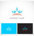 Crown abstract royal logo