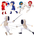Different kinds of martial arts vector image vector image