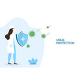 doctor with shield for coronavirus protection vector image