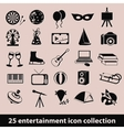 entertainment icons vector image vector image