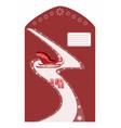 envelope for santa claus vector image
