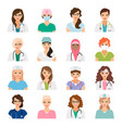 female doctors and nurses avatars set vector image vector image