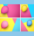 festive backgrounds with color realistic balloon vector image vector image