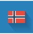 Flat flag of Norway vector image