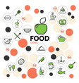 Food line icons collection vector image