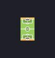 football field computer symbol vector image vector image