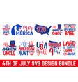 fourth july quotes design svg craft bundle cut vector image vector image
