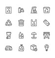 garbage collection and waste disposal icon simple vector image vector image