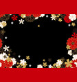 gold red and black horizontal sakura frame or vector image vector image