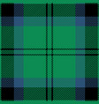 green blue and black tartan plaid seamless pattern vector image vector image