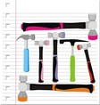 hammer with on paper vector image vector image
