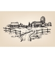 hand drawn village vector image vector image