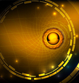 Hi tech gold abstract background vector image vector image