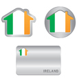 home icon on ireland flag vector image