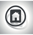 House plate sign sticker curved vector image vector image