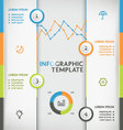 Infographic vertical vector image vector image
