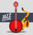 jazz festival instruments vector image