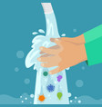 kid washing hands clean hand without germs and vector image vector image