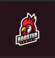 logo rooster e-sport and sport style vector image
