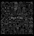 man and woman hand drawn clothes black friday vector image vector image