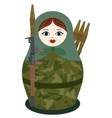 Matryoshka with an RPG-7 vector image vector image