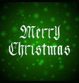 merry christmas lettering in gothic style vector image vector image