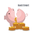 Money savings and investments vector image
