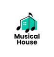 music house home course training logo icon vector image