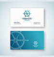 nautical navigation abstract sign or logo vector image vector image