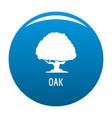 oak tree icon blue vector image
