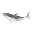origami shark isolated on white background vector image vector image