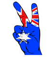 Peace sign with Australian flag vector image vector image