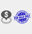 pixel dollar placement icon and grunge for vector image vector image