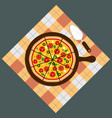 pizza pizza deliverypizza on chalkboard vector image