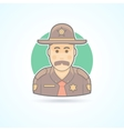 Police officer texas chief cop icon vector image