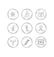 pregnancy pediatrics and family icons medical vector image
