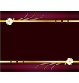 Purple and gold elegant background 1 vector image vector image