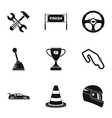 Race icons set simple style vector image vector image