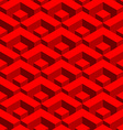 Red geometric 3D seamless pattern Abstract fabric vector image vector image