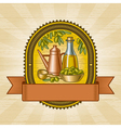 Retro olive harvest label vector image vector image