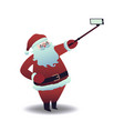 santa claus taking selfie vector image vector image