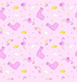seamless doodle pattern 4 vector image