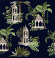 seamless pattern with jungle trees and ancient vector image vector image