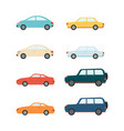 sedans and suv vehicles and cars set vector image
